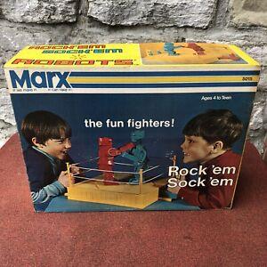 NOS Vintage Marx Rock'Em Sock'Em Robots DEAD STOCK SEALED original old