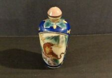Vintage Chinese Enamel Cloisonne Snuff Bottle with Tigers