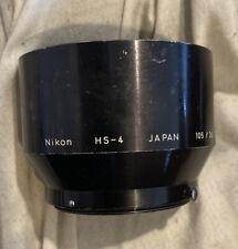 Nikon Nikkor HS-4 52mm Metal Lens Hood for 105mm & 135mm Snap On