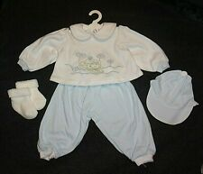 "NEW ADORA 20"" BABY BLUE/WHITE FROGGY PANTS OUTFIT"
