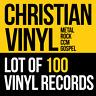 100 CHRISTIAN LP VINYL MIX RECORD LOT *Rock/Gospel/CCM/Metal/Xian/CCM