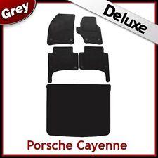 PORSCHE Cayenne 2003-2009 su misura LUSSO 1300g auto + le stuoie di avvio (OVALE clip) Grigio
