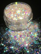 10ml Crystal Chunky Mix Glitter Pot-Nail Face Eye Body Festival Cosmetic Sparkle