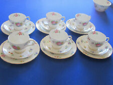 GORGEOUS TUSCAN BOUQUET FINE BONE CHINA 21 PIECE TEA SET