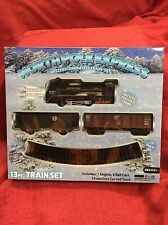 North Pole Express 13pc TRAIN SET Battery Powered-Headlight- Christmas Gift New