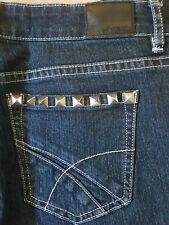 Lee Riders LOW RISE VEGAS Studded bling  Ankle Zips stretch jeans sz 12