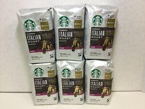 Starbucks Italian Roast, Dark Roast Coffee, Whole Bean, 6 Bags, 12oz, MAY 2020