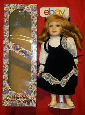 Vintage Rochele W Stand 15 Inch Doll blue Ribbons & Dress Crowley's NEW IN BOX!!
