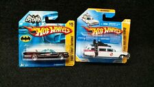 Hot Wheels 2007 First Editions Batmobile and Ecto 1 New Model Short Card Lot