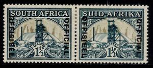 SOUTH AFRICA GVI SG O22b, 1½d blue-green & dull gold, M MINT. Cat £50.