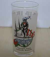 1990 Kentucky Derby Harry Stevens Mint Julep Glass Aristides - Sunday Silence