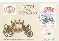 284807 / Vatikan Block gestempelt Kutsche