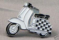 Scooter checkerboard motorcycle enamel pin / lapel badge mods Vespa Lambretta