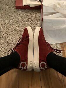 salvatore ferragamo shoes men 11 Suede Red