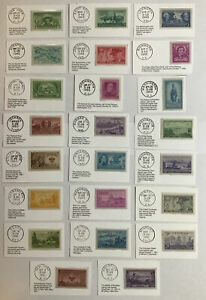 US STAMPS 1949 1950 1951 COMMEMORATIVE YEAR SETS ALL MNH 23 WITH DAY OF ISSUE PM