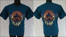 Vintage Cowboy Indian T Shirt End Of The Trail Dreamcatcher Bow Mens Size L Tee