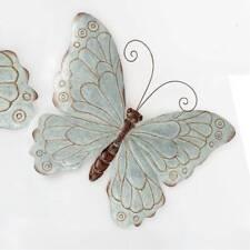 Wanddekoration Schmetterling Welcome aus Glas und Metall im Retro Stil