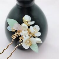 Retro Flower beads Tassel Hair Stick for Kimono Hanfu Party Cosplay