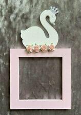 Glitter Swan princess light switch surround