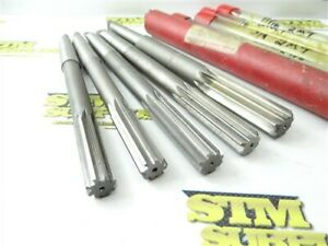 """LOT OF 5 HSS 2MT CHUCKING REAMERS 11/16"""" 3/4"""" 7/8"""" DIA CLEVELAND AP"""