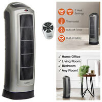 Lasko Portable Electric Tower Fan Ceramic Space Heater Adjustable Thermostat