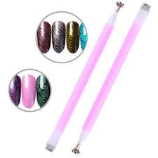 Dual-ended Cat Eye Magnetic Stick Pen Flower Strip UV Gel Rose Red Nail Art Tool