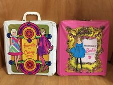 The World Of Barbie Doll Case 1968/Francie And Casey Doll Case 1967/vintage X 2