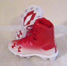 New Under Armour Boys Ua Highlight Rm Jr Football Cleats 1 Red/White Msrp$55