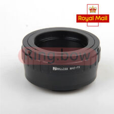 Lens Adapter For M42 Screw Mount To Fujifilm X Fuji FX Camera X-Pro1 X-E1 UK