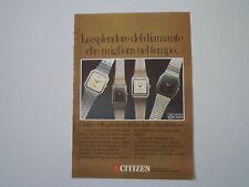 advertising Pubblicità 1982 OROLOGI CITIZEN EXCEED