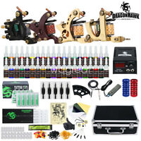 Tätowierung Tattoo Kit Komplett Tattoo Set Inks 4 Tattoo maschine 50 Nadeln W