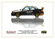 Greetings card Subaru Impreza WRC S7 #5 Biesheuvel / Schillemans Version 1
