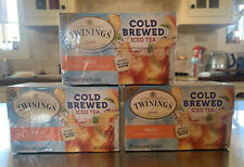 3 X TWININGS COLD BREWED ICED TEA PEACH (60 BAGS)
