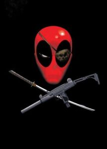 Marvel Comics Metall-Poster Deadpool Merc with a Mouth Piratepool 10 x 14 cm