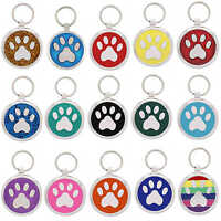 Pet Tag Dog Tags Custom Engraving Personalised ID Collar Charm Pawprint Pet Tags