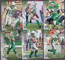 2014 CFL UPPER DECK SASKATCHEWAN ROUGHRIDERS  TEAM SET BASE 13 CARDS