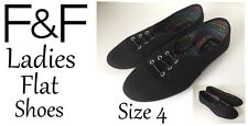 Ladies Flat Shoes Black Size 4 New With Tags FREE DELIVERY