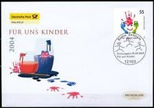 BRD 2004: Kinder! FDC der Nummer 2418! mit dem Berliner Ersttags-Sonderstempel