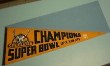 STEELERS FOUR SUPERBOWL CHAMPIONS GOLD PENNANT SUPER BOWL  IX - X - XIII - XIV