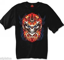 T-Shirt MC TRIBAL FLAME SKULL - Taille XL - Style BIKER HARLEY