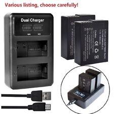 Battery or LCD Dual Charger for Panasonic DMW-BLC12 Lumix DMC-FZ300 DMC-FZ1000