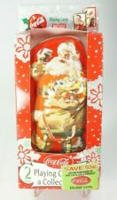 2001 Santa Coca-Cola Playing Cards in Collector Tin 2 Sealed Decks Christmas