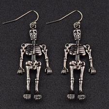 New Halloween Punk Style Limbs Skeleton Skull Villain Gothic Fashion Earrings