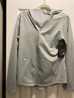 New Balance Women's Heat Loft Asymmetrical Full-Zip Jacket Gray Size Medium
