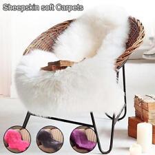 Faux Fur Sheepskin Rug Faux Fleece Chair Cover Seat Pad Soft Home Decor BJ