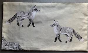 """10x18""""Handmade Cushion Cover In Prestigious Grey Fox Fabric"""