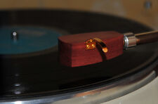 Custom-made Wood headshell for ortofon SPU GT Royal n Cartri dges-Amaranth Wood