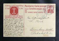 CPA DE SUISSE : POSTKARTE LANDESAUSSTELLUNG 1914 SUR 10 RAPPEN ROUGE Obl LOCARNO