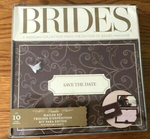Bride's Printable Save the Date Mailer Kit 10 per box; New in Box; Choc/Ivory