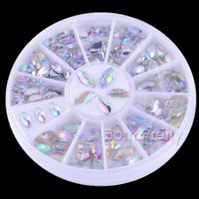1Box  Nail Art Mini Shiny Oval Rhinestone Acrylic UV Gel Decoration 3*6mm/4*8mm